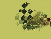 A complex and abstract piece of vector