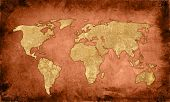 world map-vintage artwork poster