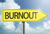 Burnout yellow sign poster