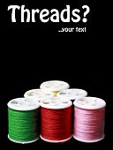 Colorful Spools With Threads Used As Poster