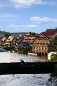 Bridge Over A River In The Medieval City Of Bamberg