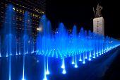 Angled Blue Fountain Yi Sun-sin Statue
