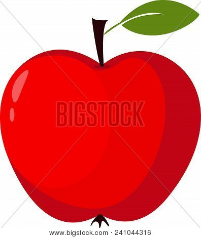 Red Apple Vector Illustration Apple Icon