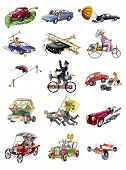image of beetle car  - Hand work comic cartoons various cars  - JPG