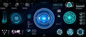 Abstract Technology Ui Futuristic Concept Hud, Interface Hologram Elements Of Digital Data Chart. Ga poster