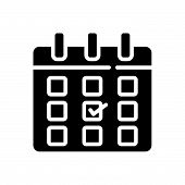 Постер, плакат: Calendar Vector Icon On White Background Calendar Modern Icon For Graphic And Web Design Calendar