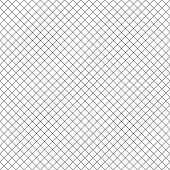 Square Grid Vector Seamless Pattern. Modern Abstract Geometric Black And White Texture With Thin Dia poster