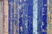 Peeling Paint Texture. Textured Wooden Background With Weathered Painted Multicolor Textured Surface poster