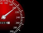 image of speedo  - a illustration of a speed meter from a dashboard - JPG
