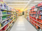 Abstract Blurred Laundry Detergent Products At Retail Store In Usa poster