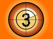 Orange and Red Circle Countdown at No 3 - (Vector Format)