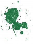 Grunge Splat Hintergrund ist transparent, so dass sie auf andere Abbildungen oder die Bilder überlagert.