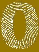 Fingerprint Number - 0 (Highly detailed grunge Number)