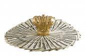 Crown on money