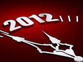 New Year 2012 Clock 3D Render