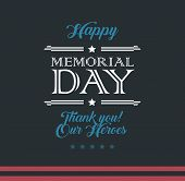 Happy Memorial Day Typography Vector Background - Template Design For Memorial Day - Memorial Day Ve poster