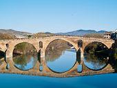 Romanesque Bridge At Puente La Reina, Spain, Unesco