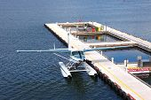 Seaplane Parked In Vancouver Bc, Canada.