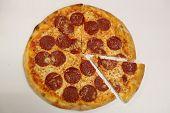 Pepperoni Pizza Slice. Italian Pizza Slice. Pizza Pepperoni Slice. poster