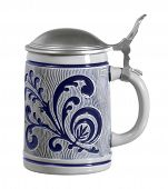 Blue Ornamented Stein