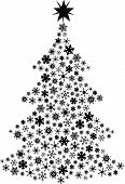 Vector Snowflake Christmas Tree