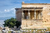 Caryatid Porch Of Erechtheion On The Acropolis, Athens poster