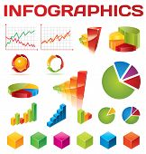 Bunte Infographik Vector collection