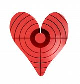 Target On A Metal Heart-shaped Object poster