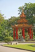 Chinese Pagoda In Tropical Park