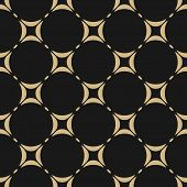 Black And Gold Geometric Seamless Pattern. Vector Ornament Texture. Abstract Repeat Background With  poster
