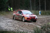 Mitsibushi Lancer Evolution 9 at IRC Rally of Scotland