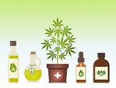 Marijuana Plant And Cannabis Oil. Medical Marijuana. Hemp Oil In A Jar. Cbd Oil Hemp Products. Oil G poster