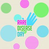 Rare Disease Day Design, Typography For Rare Disease Logo, Vector Illustration poster