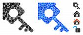 Realty Access Mosaic Of Round Dots In Different Sizes And Color Tones, Based On Realty Access Icon.  poster
