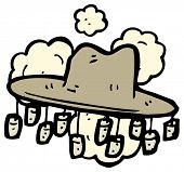 cartoon australian hat with corks