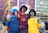 Football Fans On Olympic Stadium