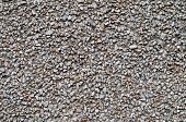 Gray And Brown Background Of Fine Gravel. Small Pebble Stones Of Various Shapes. Gravel Surface Text poster