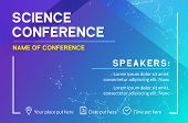 Science Conference Business Design Template. Science Brochure Flyer Marketing Advertising Meeting poster