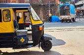 Tuk-tuk. Side View. Taxi In India And Sri-lanka. Type Of Transport In Asia. Moto Rickshaw In Asia. poster