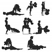 Kamasutra, Poses For Making Love. Set. Yin And Yang, Man And Woman Love Each Other. Kamasutra, The A poster