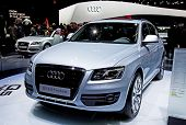 GENEVA - MARCH 8: Audi Q5 Hybrid on display at the 81st International Motor Show Palexpo-Geneva on M