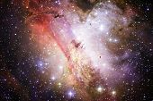 Cluster Of Stars In Deep Space. Milky Way Galaxy. Elements Of This Image Furnished By Nasa. poster