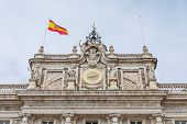 The Royal Palace Of Madrid (palacio Real De Madrid), The Official Residence Of The Spanish Royal Fam poster