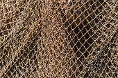 Old Fishing Nets. Abstarct Background Of Nets, Geometric Pattern poster