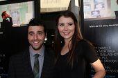 LOS ANGELES - JUN 20:  David Krumholtz, Vanessa Britting arrives at HBO's