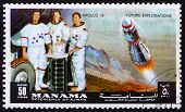 Postage stamp Manama 1972 Astronauts Scott, Worden and Irwin, Ap