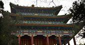 Old Chinese Pavilion Jingshan Gongyuan Coal Hill Park Beijing, China