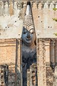 Large Buddha Image In Wat Srichum, The Buddhist Temple In Sukhothai Historical Park, Thailand poster