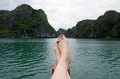 On Vacation In Ha Long Bay, Vietnam