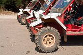 Line Up Of Offroad Atv